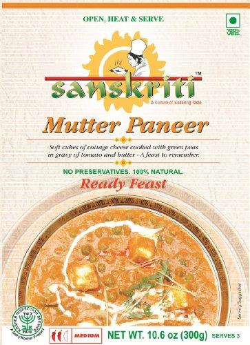 Sanskriti Mutter Paneer, 10.6-Ounce Packages (Pack of 10)