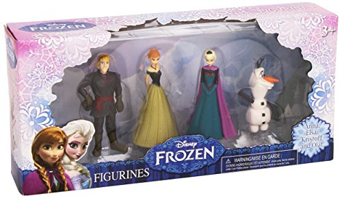 Beverly Hills Teddy Bear Company Frozen Olaf, Anna, Elsa, Kristoff Figure (4-Pack) - 1