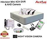 HIKVISION DS-7104HGHI-F1 MINI 4CH DVR + ACTIVE AHD 1.3 Megapixel High Resolution 36IR BULLET CAMERA 2pcs + 500GB HDD + ACTIVE CABLE + ACTIVE POWER SUPPLY (FULL COMBO)