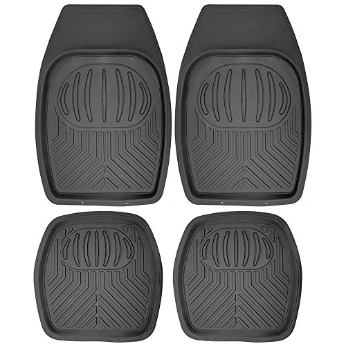 OxGord 4pc Set Tactical Heavy Duty Rubber Floor Mats - Black (Ford Focus Floor Mats 2005 compare prices)