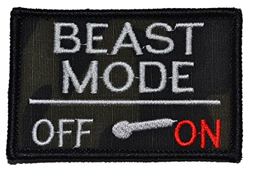 Buy Bargain Beast Mode Activated 2x3 Military Patch / Morale Patch - Multiple Colors (Multicam BLACK...