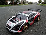 Audi R8 Style 4WD Drift Radio Remote Control Car POWERFUL 280 Motor RC Drift Car 1:10 Scale - 4 FREE Rubber Tires for Grip