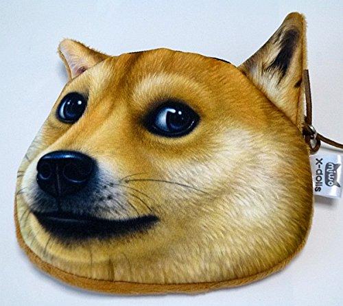 NDHCI 犬猫 3D小銭入れ ポーチ 小物入れ二も! (柴犬)