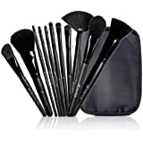 e.l.f. Studio 11 Piece Brush Collection Black Makeup Brushes Professional ELF