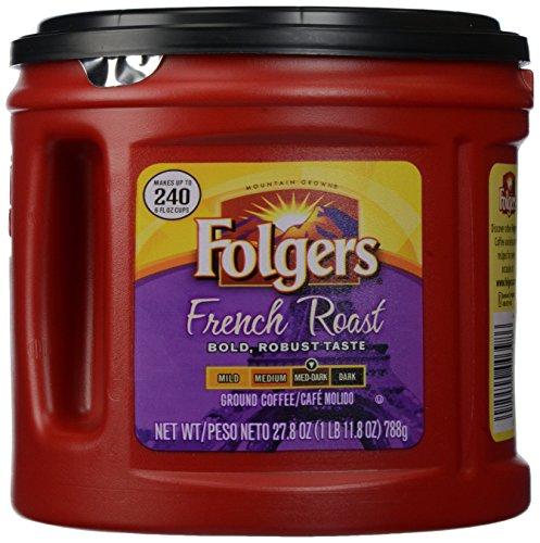 Folgers French Roast Ground Coffee, 27.8 Oz