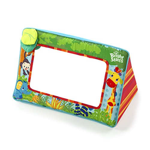 Bright Starts Sit and See Floor Mirror, Safari
