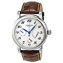 Montblanc Star Retrograde Beige Guilloche Dial Automatic Mens Watch 106462