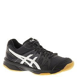 ASICS Gel-Upcourt GS Volleyball Shoe (Little Kid/Big Kid),Black/Silver,2 M US Little Kid
