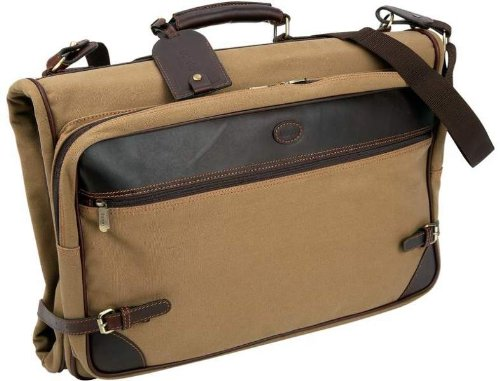 Baron Country Canvas & Leather Garment Bag