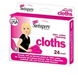 Swisspers Premium Cotton Cleansing Cloths, 24 Count (Pack of 6)