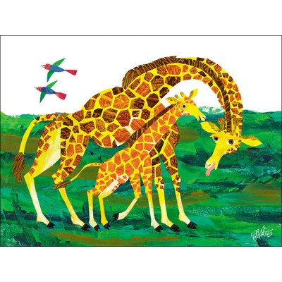 "Oopsy Daisy NI2616 Eric Carle's Giraffe Mother Canvas Wall Art, 24"" by 18"""
