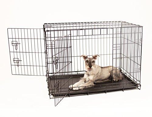 Carlson sichere und kompakte Hundebox mit zwei Türen, ZWISCHEN-