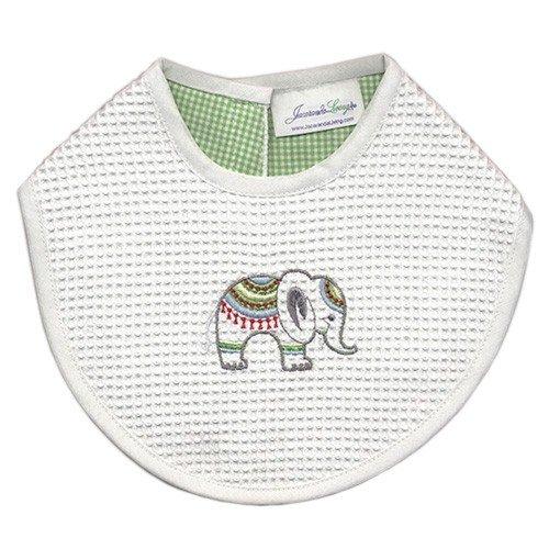 Jacaranda Living Baby Bib, Lucky Charm Elephant