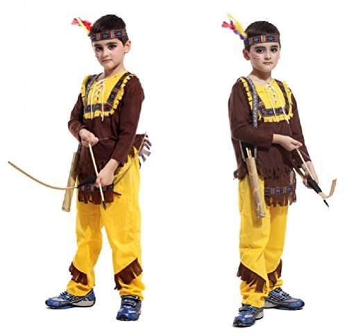 Purplebox Halloween Children'S Performing Clothing Children Prince Indian Cos Hunter