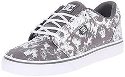 DC Women\'s Anvil TX SE Skate Shoe, Grey/White, 11 M US