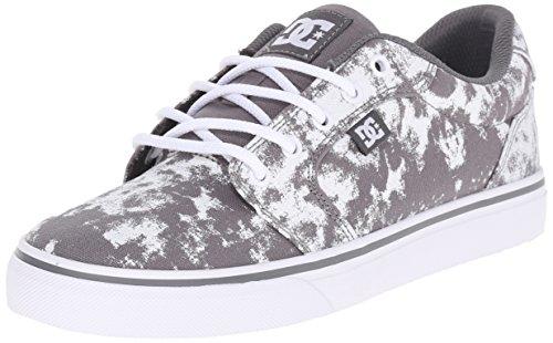 DC Women's Anvil TX SE Skate Shoe, Grey/White, 5 M US