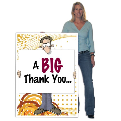 3'x4' Giant Thank You Card (Big Nose), W/Envelope