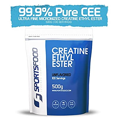Creatine Ethyl Ester (CEE) Powder - 500g (1.1lbs), Fastest Absorption Formulation, Supports Anabolic Muscular Growth