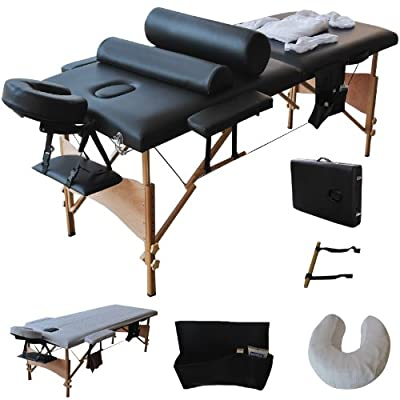 "Goplus 84""l Massage Table Portable Facial SPA Bed W/sheet+cradle Cover+2 Pillows+hanger"