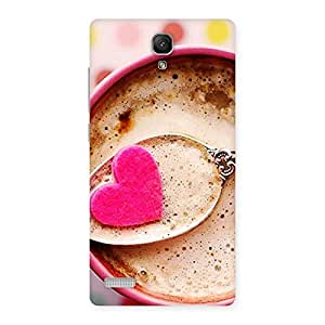 AJAYENTERPRISES Coffe With Hearts Back Case Cover for Redmi Note