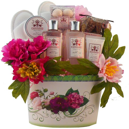 SCHEDULE YOUR DELIVERY DAY - So Serene Peony Spa Bath and Body Gift Basket