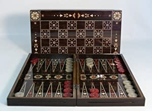 Floral Decoupage Backgammon/Chess Set