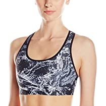 Champion Women's Absolute Bra Printed, Black Splish Splash/Black, X-Small