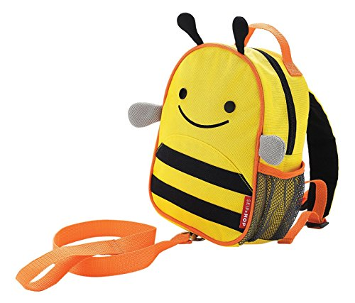 Skip Hop Zoo Little Kid & Toddler Safety Harness Backpack (Ages 2+), Multi, Brooklyn Bee (Skip Hop Harness compare prices)