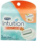 Schick Intuition Moisturizing Tropical Splash Refill Razor, 3 Count
