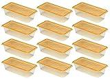 和泉化成 『まとめ買い』 タッパー 水切りレンジパック 長角型 12個セット