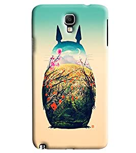 Blue Throat Scenery In Cat Printed Designer Back Cover/ Case For Samsung Galaxy Note 3 Neo