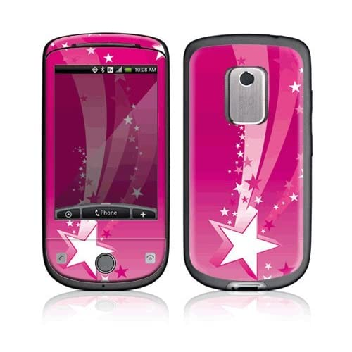 Pink Stars Decorative Skin Cover Decal Sticker for HTC Hero (Sprint) Cell Phone