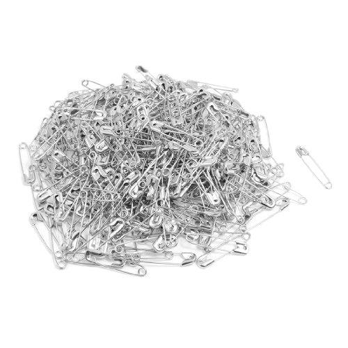 Spille da balia di metallo colore argento per chiusura vestiti 500 pezzi