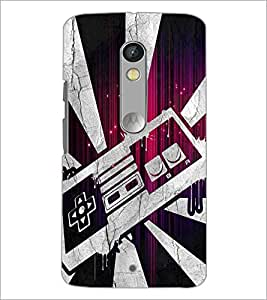 PrintDhaba Abstract Design D-2844 Back Case Cover for MOTOROLA MOTO X PLAY (Multi-Coloured)