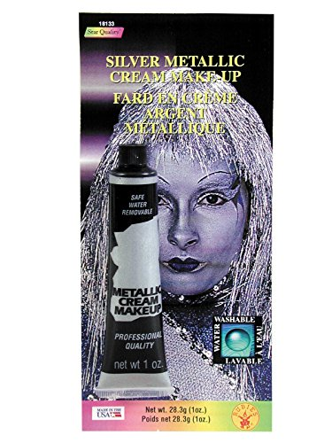Rubie's Costume Co Slvr Metallc Cream Makeup Costume,0.7 oz - 1