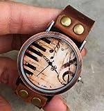 Retro Style Simple leather wrist watch,Handmade Womens Watch Brown leather wrist watch 2188W