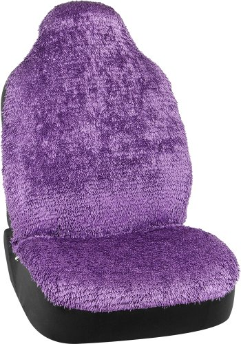 Bell Automotive 22-1-56869-9 Universal Shiny Shaggy Bucket Seat Cover, Purple (Shaggy Purple Car Seat Covers compare prices)