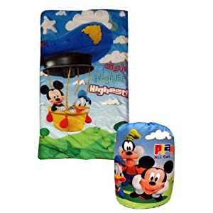 Mickey Mouse Sleeping Bag Hot Air Balloon Slumber Set