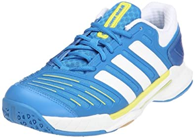 ADIDAS Adipower Stabil 10 Unisex Court Shoe, Blue/White, US7.5