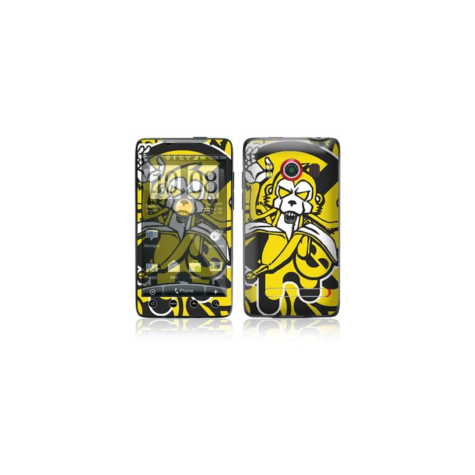 Monkey Banana Protective Skin Cover Decal Sticker for HTC Evo 4G (Sprint) Cell Phone