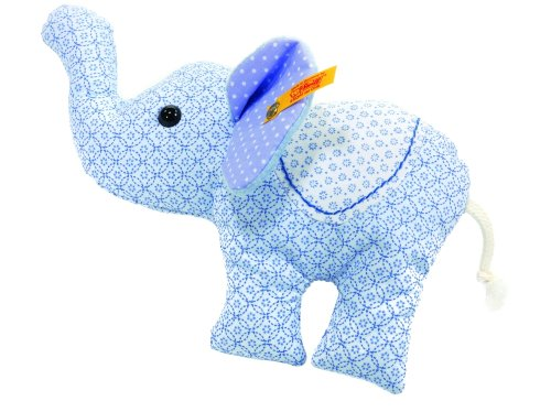 Steiff's Little Circus Elephant Rattle, Light Blue