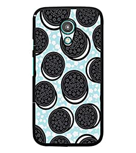 PrintDhaba Cookies D-2142 Back Case Cover for MOTOROLA MOTO G2 (Multi-Coloured)