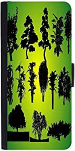 Snoogg 14 Plants Silhouettes Designer Protective Phone Flip Case Cover For Lenovo Vibe S1