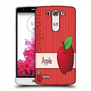 Snoogg bright organic red apple card in vector format Designer Protective Back Case Cover For LG G3 BEAT STYLUS