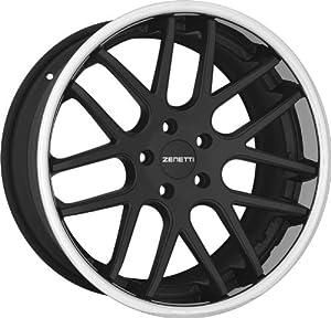 ZENETTI – torino – 20 Inch Rim x 8.5 – (5×112) Offset (35) Wheel Finish – flat black chrome lip