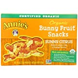 Annie's Homegrown Sunny Citrus Organic Bunny Fruit Snacks, 4-Ounce Boxes (Pack of 4) by Annie's Homegrown