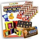 Gogo's Crazy Bones Superstar Series 6 Mega Starter Package (1 Sticker Album + 10 Packets & Crazy Bones Tin Part 2)