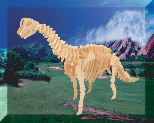 Picture of Fun Puzzled Brachiosaurus Lr 3D Natural Wood Puzzle (B004MQ88FC) (3D Puzzles)