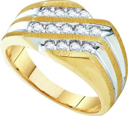 DIAMOND RING 0.50CTW DIAMOND FASHION MENS RING GH0156 Size O