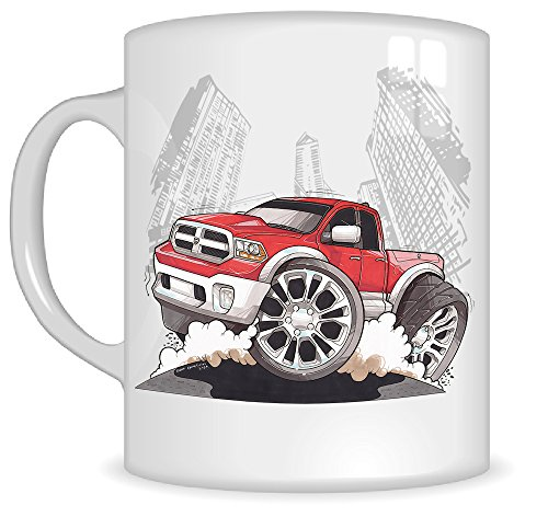 koolart-gifts-k3257-mg-cartoon-of-chrysler-dodge-ram-1500-caricature-red-chrysler-mug-gift-for-men-m